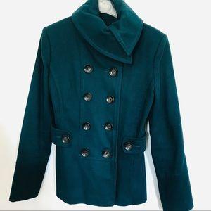 Jackets & Blazers - Teal Pea Coat Size XXS NEW